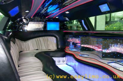 interior view of the chrysler limousine